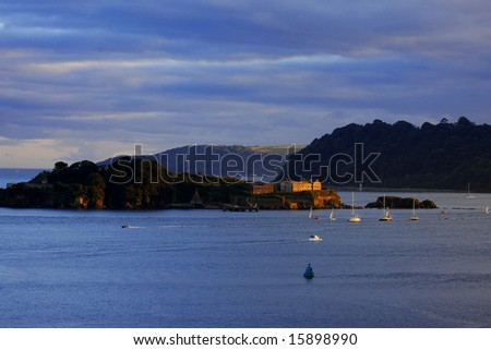 island,  Plymouth, England, UK - stock photo