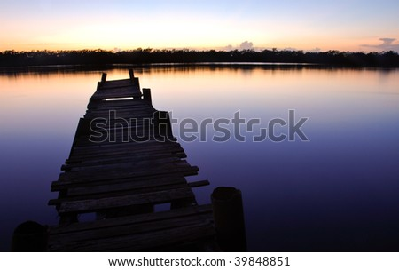 Island sunrise - stock photo