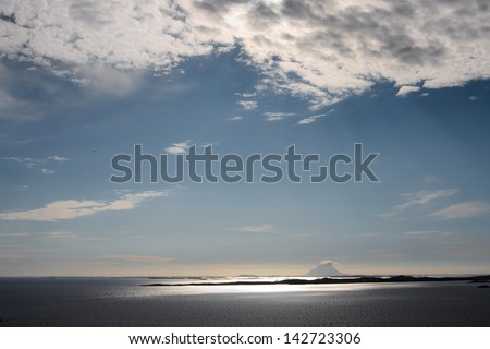 islands in norway - stock photo
