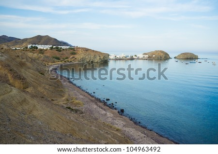 Isleta del Moro bay and village in Cabo de Gata Natural Park, Andalusia