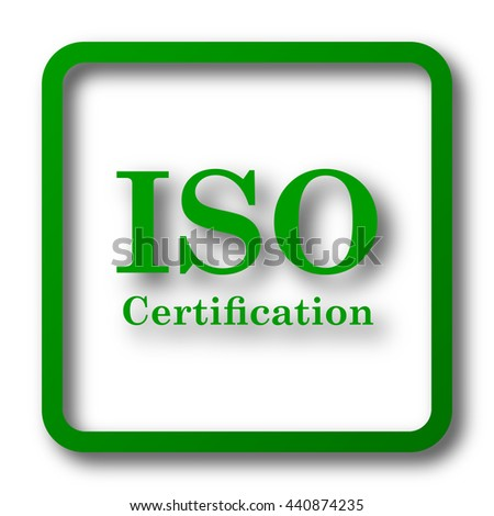 ISO Certification Icon Internet Button On Stock Illustration ...
