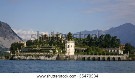 isola bella on lake maggiore. - stock photo