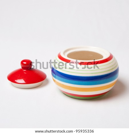 Isolate ceramic bottle - stock photo