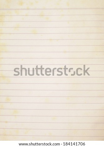 isolate old notebook paper - stock photo