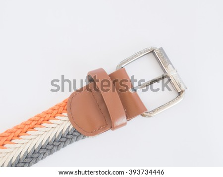 isolate picture of string weave belt, look modern fashion