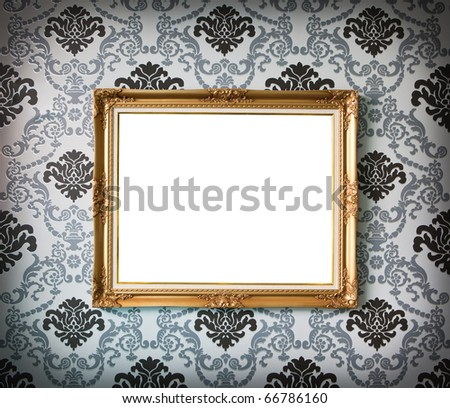 isolate vintage photo frame - stock photo