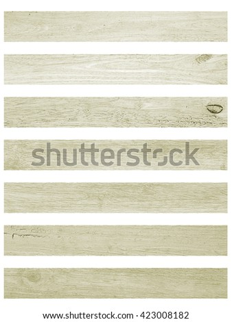 Isolate Vintage wood plank floor and wall sepia and pastel colors tone texture background.Vintage Style. - stock photo