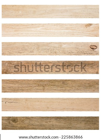 Isolate Wood plank brown texture background - stock photo