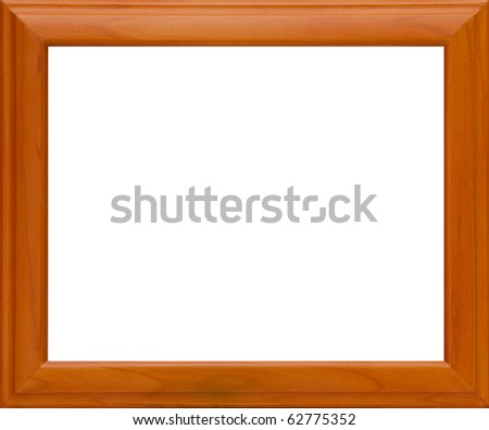 Isolate Wooden frame - stock photo