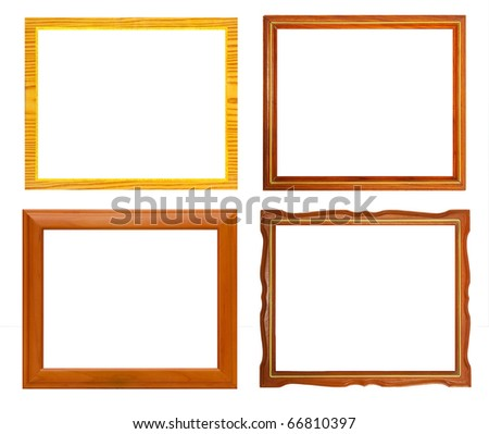Isolate Wooden frame collection - stock photo