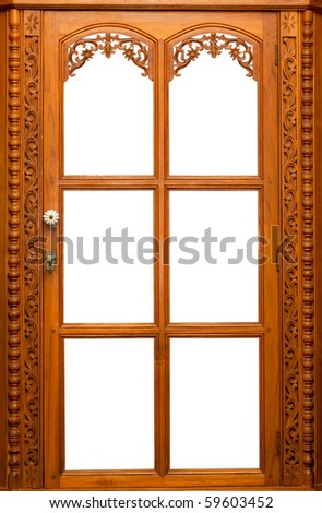 Isolate Wooden window - stock photo
