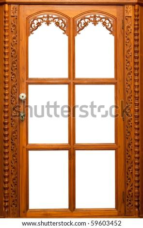Isolate Wooden window - stock photo