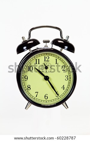 Isolated alarm clock - stock photo