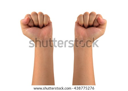 isolated all side Man fist  - stock photo