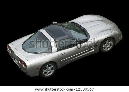 isolated american corvette on black - stock photo