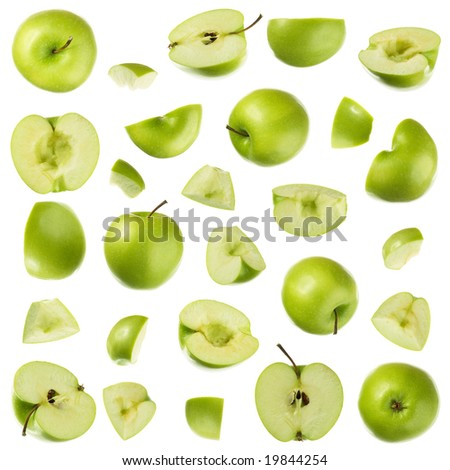 Isolated apple collection - stock photo