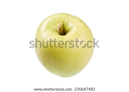 Isolated apple varieties Golden on a white background - stock photo