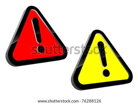 Isolated attention icons for web design or warning concept. Vector version also available in gallery - stock photo