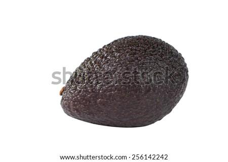 Isolated Avocado fruit on white - stock photo