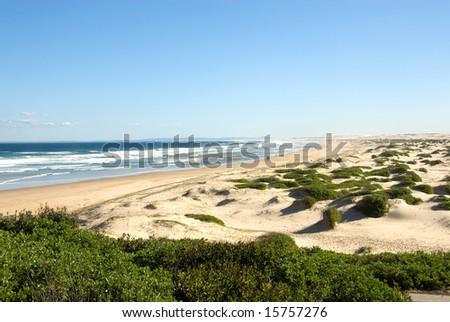 Isolated Beach, near Anna Bay, New South Wales, Australia - stock photo
