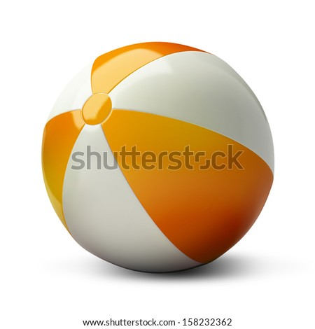 Isolated beachball on a white background - stock photo