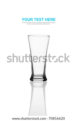 Isolated beautiful beer glass with white background. - stock photo