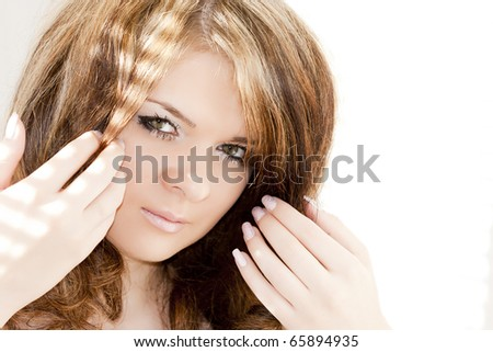 isolated beautiful girl - stock photo