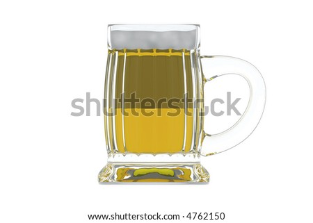 isolated beer mug