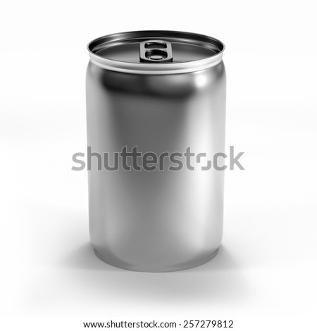 isolated beverage aluminium can isolated on white background - stock photo