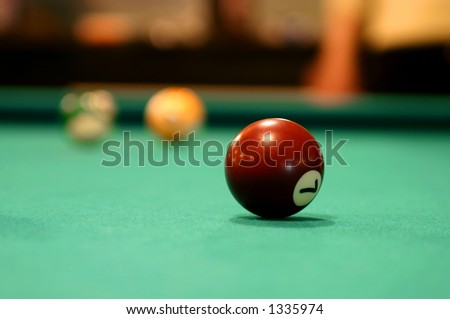 Isolated billiard ball number seven