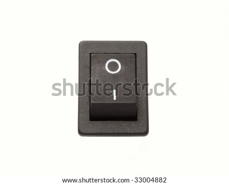 Isolated black on - off power switch
