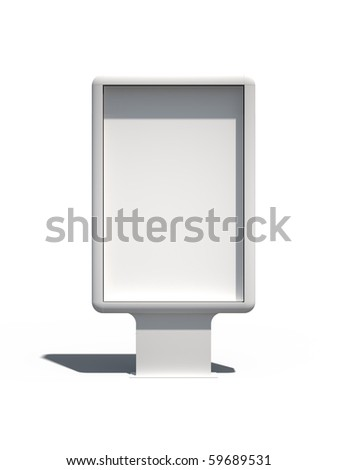 Isolated Blank Billboard With Shadows - stock photo