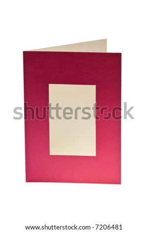Isolated Blank Greeting Card With Window - File Includes Clipping Paths for the Full Card and For the Window - stock photo