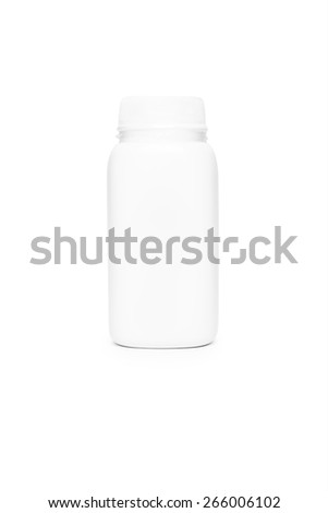 isolated bottle on a white background