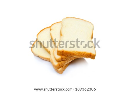 Isolated Bread and Toaster - stock photo