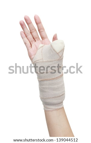 Ankle arm foot fractured hand leg thumb wrist