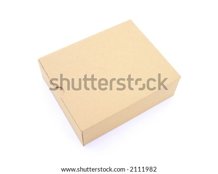 Isolated brown box - stock photo