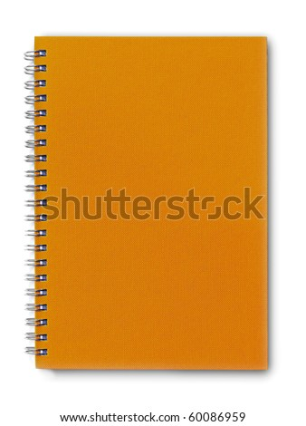 isolated brown notebook on white.