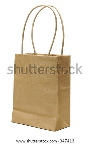 Isolated Brown Paper Bag