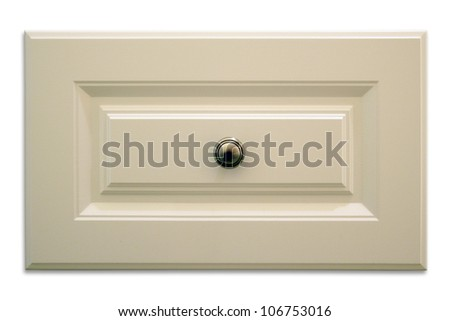 Isolated cabinet drawer with drop shadow. - stock photo