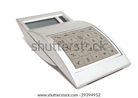 Isolated calculator closeup - stock photo