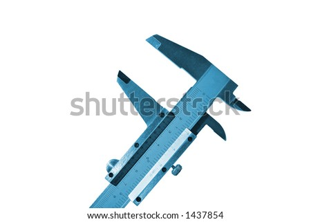 Isolated caliper - stock photo