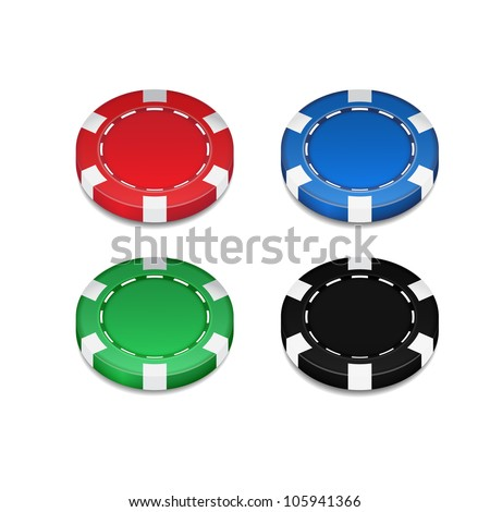 Isolated Casino Chip - stock photo