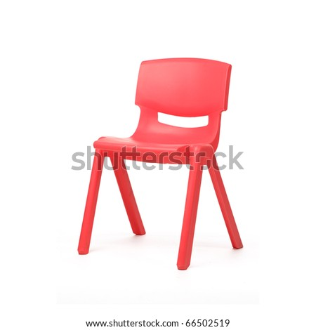isolated chair on white background