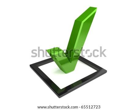 Isolated check mark - stock photo