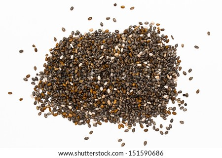 Isolated chia seeds - stock photo