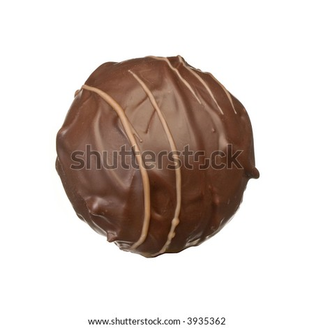 isolated chocolate praline - stock photo
