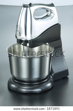 Isolated Chrome Stand Mixer1 - stock photo