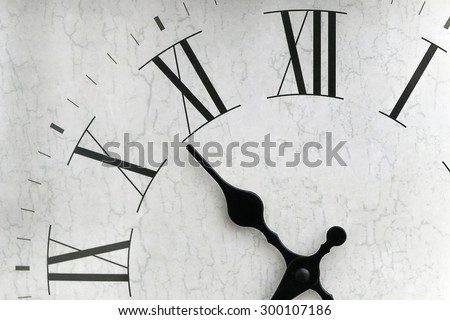 Isolated clock face with roman numerals - stock photo
