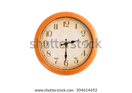 Isolated clock showing 2:30 o'clock - stock photo